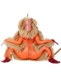 Loewe Monkey Bag Charm- Orange