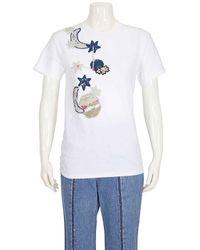 Michaela Buerger Pig On Moon T-shirt In White
