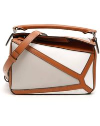 Loewe White Multitone Small Puzzle Bag