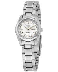 Seiko 5 Automatic Silver Dial Stainless Steel Watch - Metallic