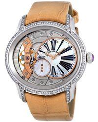 Audemars Piguet Millenary White Mother Of Pearl Dial Hand Wind Ladies Watch - Metallic