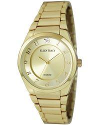 Ellen Tracy Quartz Gold Dial Ladies Watch - Metallic