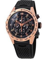 Tag Heuer Carrera Chronograph Automatic Black Skeleton Dial Mens Watch - Multicolour