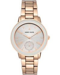 Anne Klein Light Grey Dial Ladies Watch - Multicolour