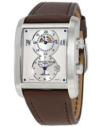 Raymond Weil Don Giovanni Automatic Gmt Dual Time Silver Dial Mens Watch -stc-65001 - Metallic
