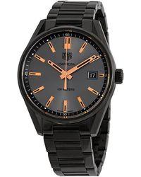 Tag Heuer Carrera Black Pvd Black Dial 39 Mm Watch