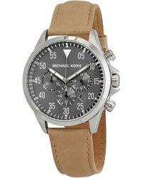 Michael Kors Gage Chronograph Quartz Gray Dial Mens Watch