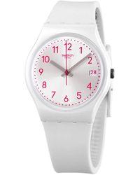 Swatch Pearlazing Quartz Ladies Watch - White
