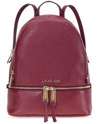 Michael Kors Rhea Zip Medium Backpack - Red