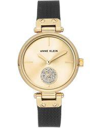 Anne Klein Gold-tone Sunray Dial Ladies Watch - Metallic