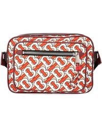Burberry Monogram Print And Leather Crossbody Bag - Multicolor