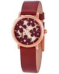 Marc Jacobs - Classic Quartz Red Dial Ladies Watch - Lyst