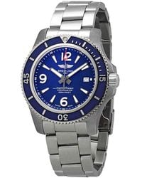 Breitling Superocean 44 Automatic Blue Dial Mens Watch