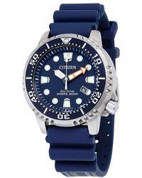 Citizen Promaster Professional Diver 200 Meters Eco-drive Mens Watch -09l - Blue