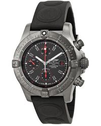 Breitling Pre-owned Avenger Black Dial Chronograph Rubber Mens Watch -bc73bkor