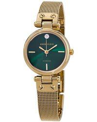 Anne Klein Green Dial Ladies Watch - Metallic