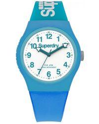 Superdry Urban Quartz White Dial Unisex Watch - Blue