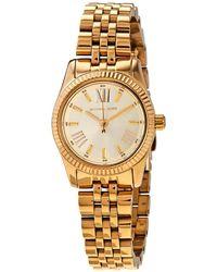 Michael Kors Petite Lexington Gold Dial Ladies Watch - Metallic