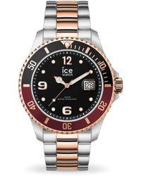 Ice-watch Quartz Black Dial Two-tone Watch - Metallic