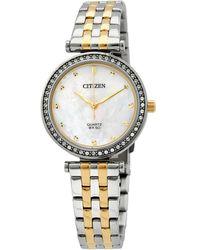 Citizen Quartz Crystal Watch -54d - Metallic