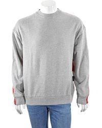 Mostly Heard Rarely Seen Mens Heather Grey Fanatic Crew Neck Sweatshirt, Brand