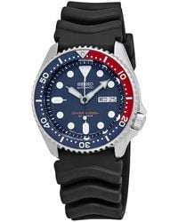 Seiko 5 Sports Automatic Blue Dial Pepsi Bezel Mens Watch