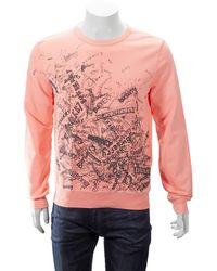 Burberry Rennie Graphic Crewneck Sweatshirt - Pink