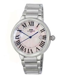 Oniss On2222 Automatic White Dial Mens Watch -0mwt - Metallic