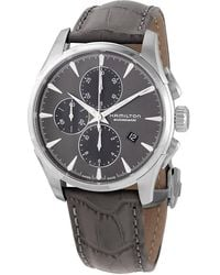 Hamilton Jazzmaster Chronograph Automatic Grey Dial Mens Watch