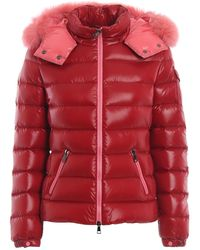 Moncler Ladies Red Fur Trimmed Bady Puffer Jacket, Brand