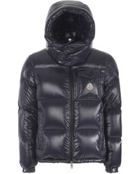 Moncler Mens Navy Montbeliard Nylon Lacquer Puffer Jacket - Blue