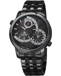August Steiner - Quartz Grey Dial Black-plated Mens Watch - Lyst