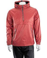 The Very Warm Mens Hanover 1/4 Zip Pop Outerwear - Orange
