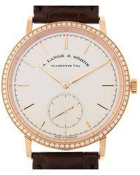 A. Lange & Sohne Saxonia Automatic 18kt Rose Gold Watch Alange842032 - Metallic