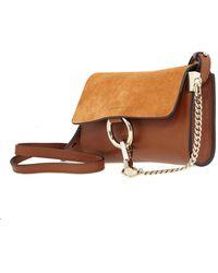 Chloé Strap Wallet Faye Tobacco Faye Wallet On Chain - Brown