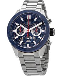 Tag Heuer Carrera Chronograph Automatic Mens Watch - Blue