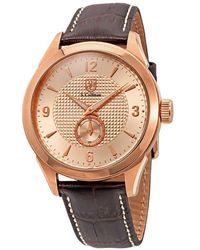 S. Coifman Rose Dial Rose Gold-plated Mens Watch - Multicolour