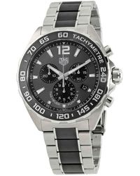 Tag Heuer Formula 1 Chronograph Anthracite Grey Dial Mens Watch - Multicolour