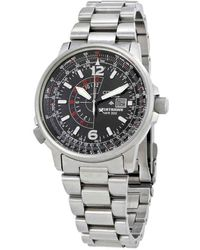 Citizen Nighthawk Eco-drive Pilot Watch Mens Watch -52e - Metallic
