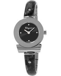 Ferragamo Gancino Quartz Black Dial Ladies Watch - Metallic