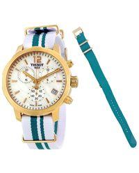 Tissot Quickster Chronograph Unisex Watch T0954173711701 - Blue