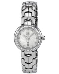 Tag Heuer Link Diamond Silver Guilloche Ladies Watch - Metallic