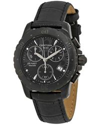 Certina Ds First Chronograph Quartz Dial Watch - Black