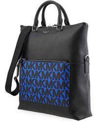 Michael Kors Greyson Leather Logo Tote Bag - Gray
