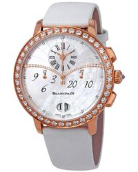 Blancpain Chronograph Flyback Grande Date 18kt Rose Gold Diamond Ladies Watch -2954-58a - Multicolor