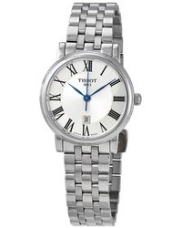 Tissot Carson Premium Lady Quartz Silver Dial Ladies Watch - Metallic