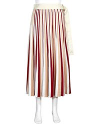 Moncler Ladies 1952 Pleated Skirt, Brand - Orange