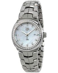 Tag Heuer Lady Link Mother Of Pearl Dial Ladies Watch - Metallic