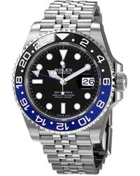 Rolex Gmt-master Ii Gmt Black Dial Mens Watch - Metallic