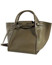 Céline Amry Green Top Handle Bag
